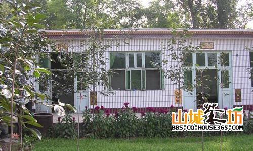 这是90年代末的农村房子,瓦房变成了平房,把这片大地装扮得更加