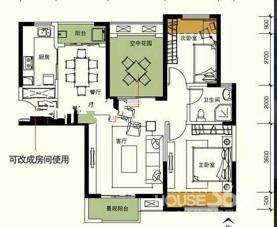 房子设计图三  装修123平方装修预算表-115平方装修预算/120平方米