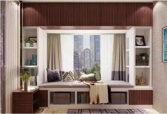 【华迪装饰】小家具,大v家具-卧室飘窗有大空间设计师用处新中式品牌图片