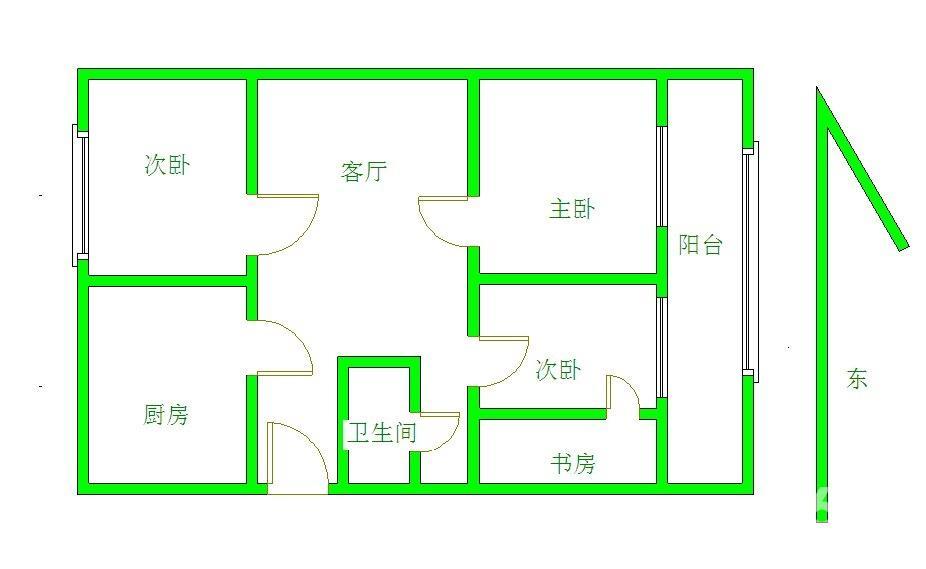 农村两层楼房设计图一楼两室一厅一厨一卫二楼三室一厅一卫