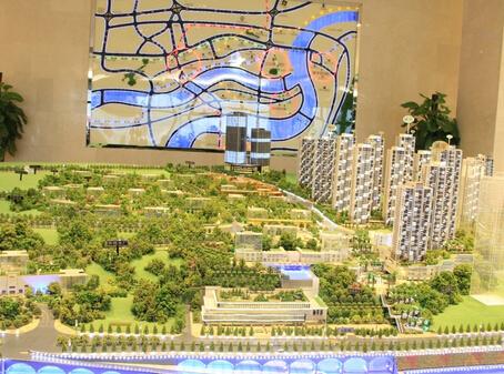 金融街融景城项目沙盘一览