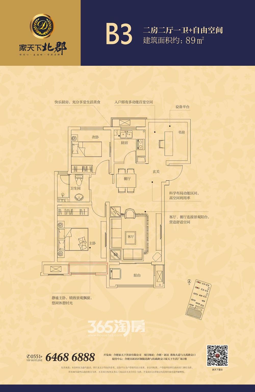 家天下北郡B3户型图