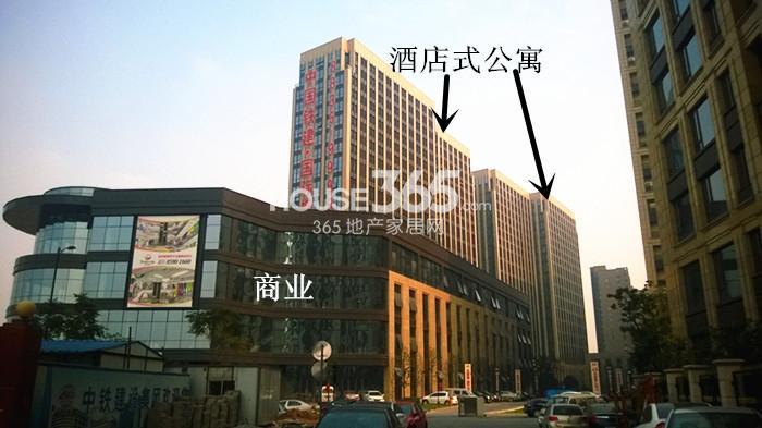 2014年11月底中国铁建国际城项目实景--酒店式公寓及商业