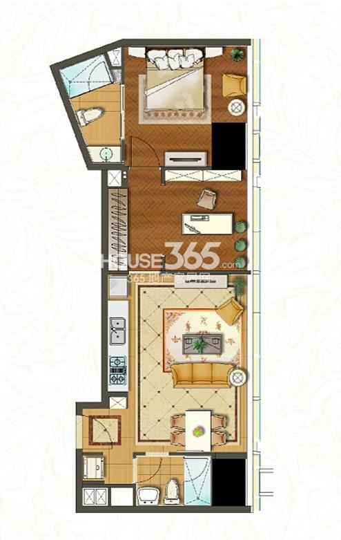 苏宁广场酒店式公寓c1户型