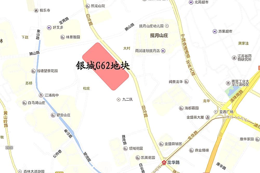旭辉银城白马澜山交通图