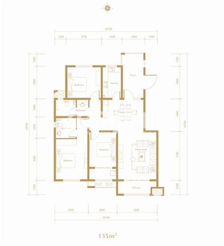 紫林湾洋房17#楼户型图
