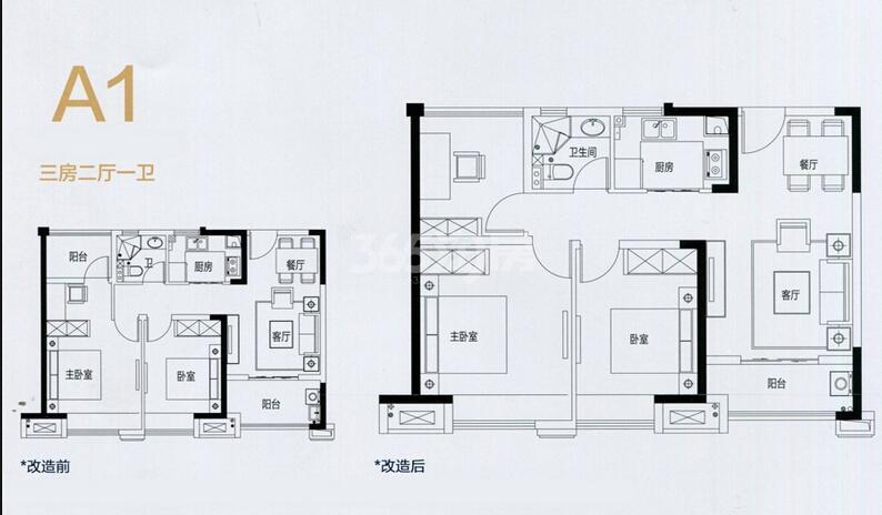 中南锦苑A1户型图