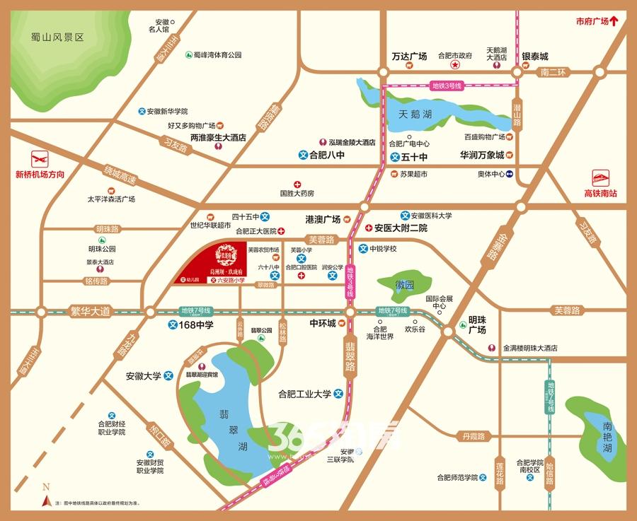 葛洲坝玖珑府交通图