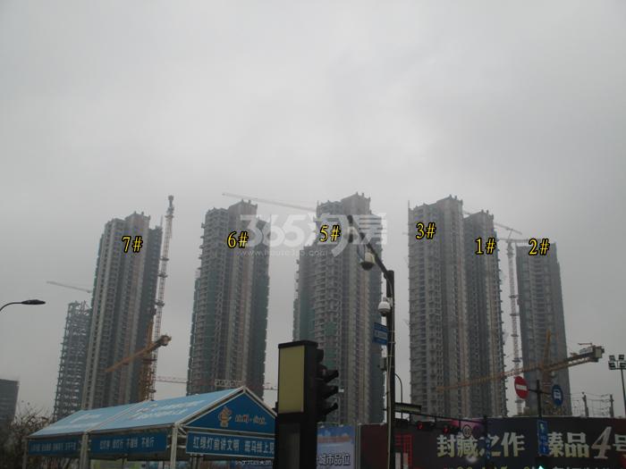 理想银泰城项目1—3、5—7号楼施工进程图(2015.11)