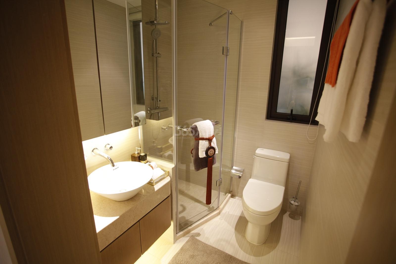 新城香悦半岛b1户型112方样板房——卫浴
