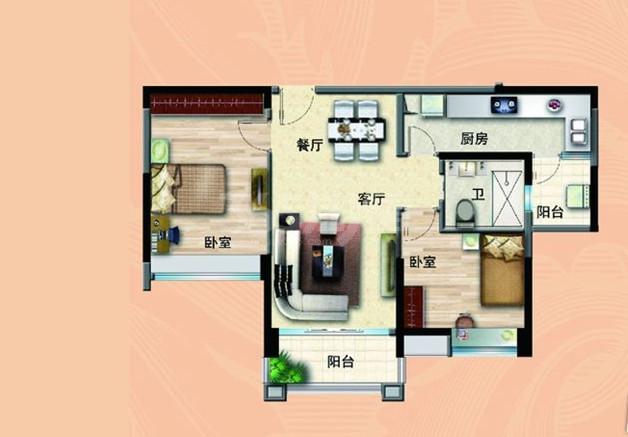 无锡碧桂园90平法式洋房户型图图片