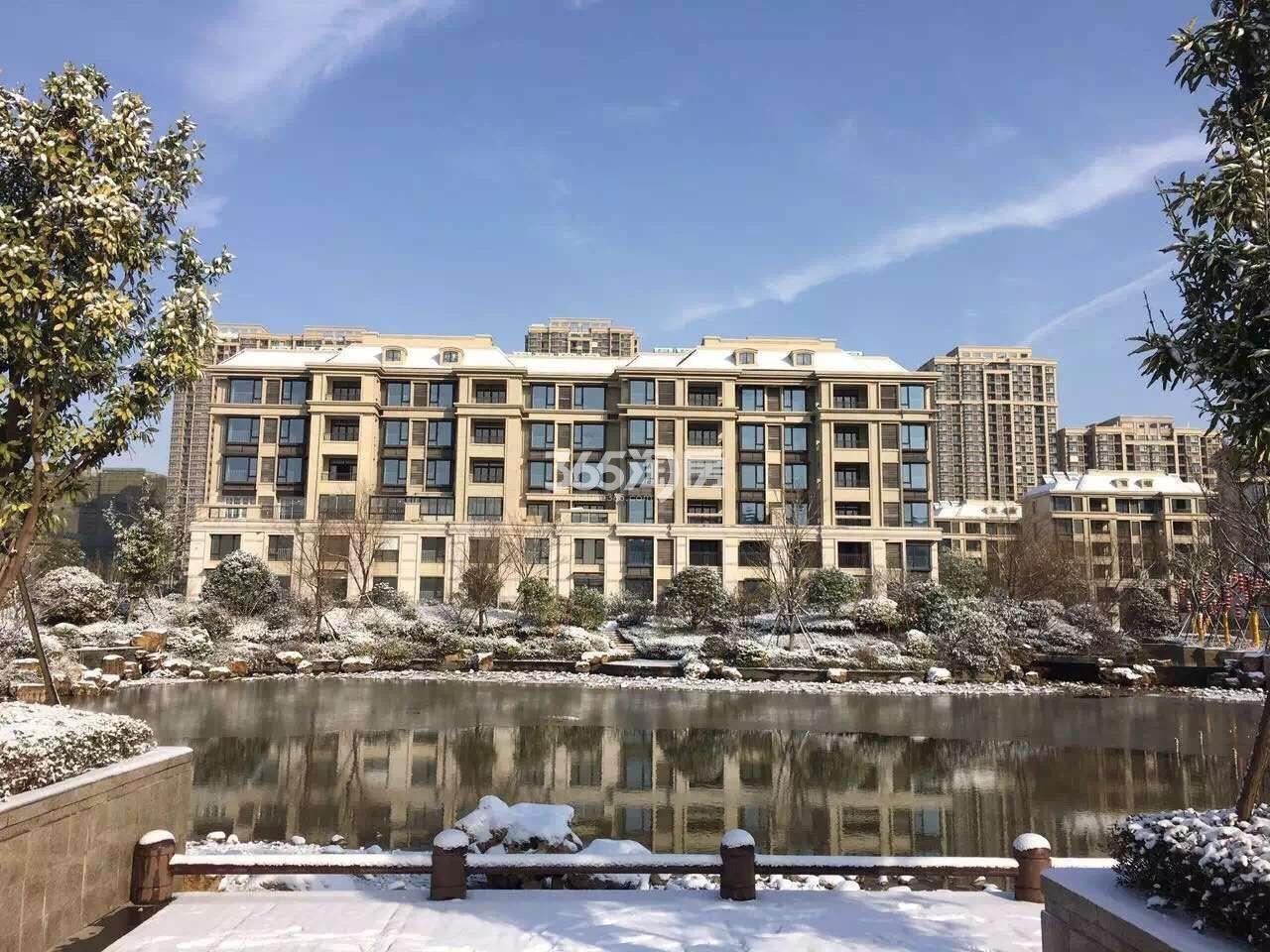 银亿东城小区雪景实景图(1.23)