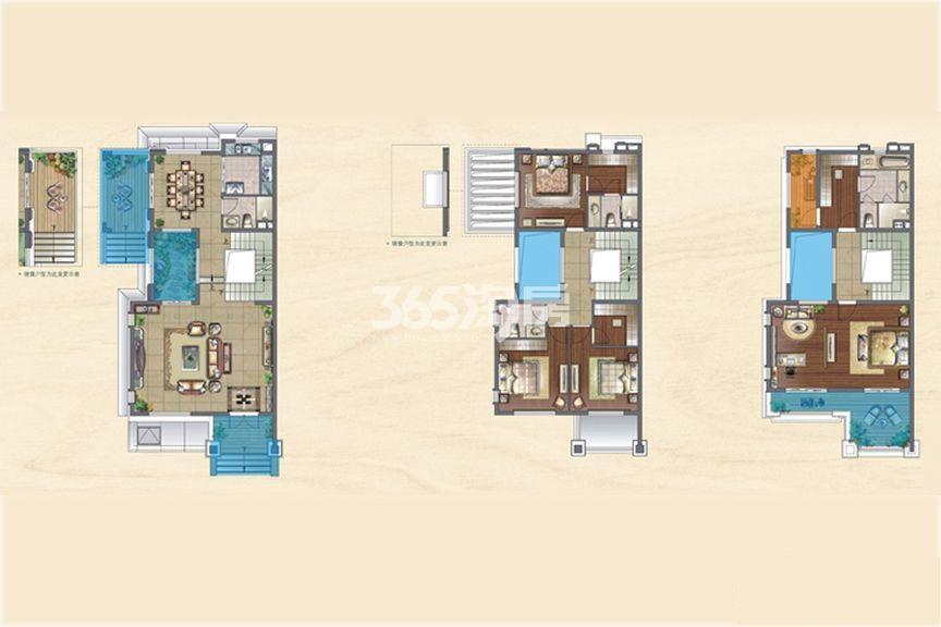 央墅C户型:4室2厅1厨4卫
