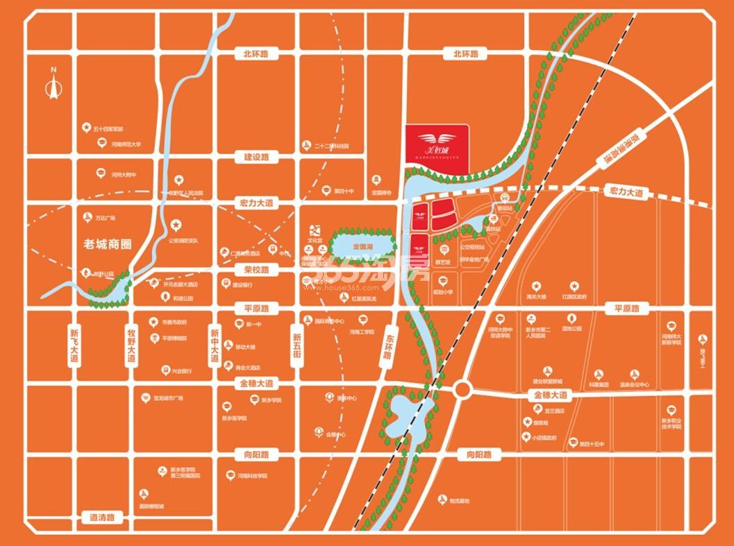 美好城交通图
