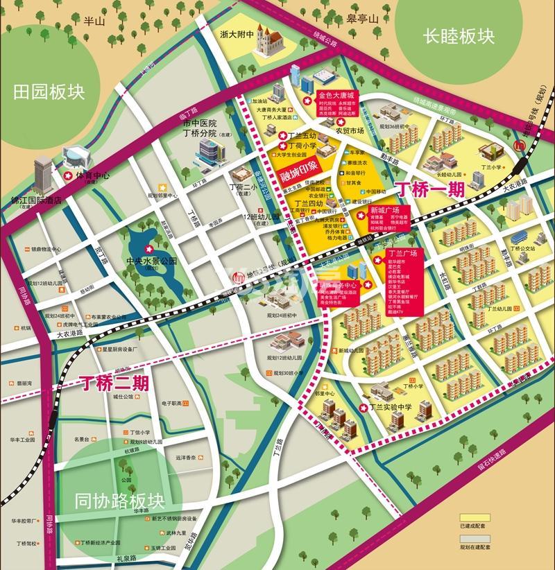 广大融城印象交通图