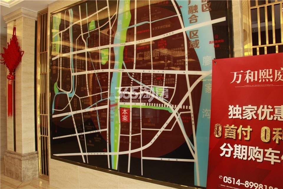 万和熙庭销售中心区位图实景