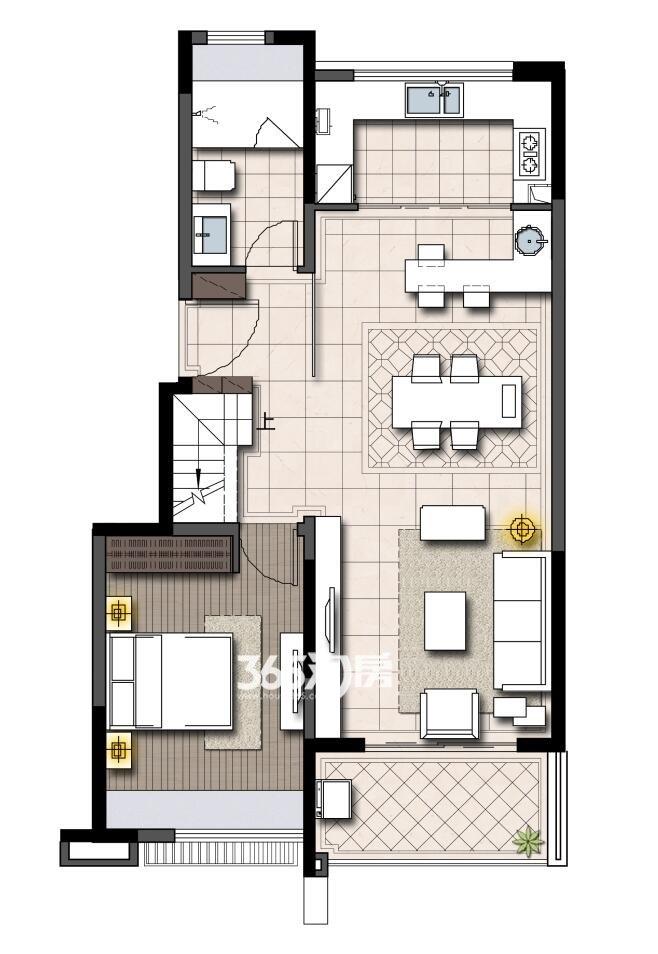 鹭山湖挑高2-4楼下层