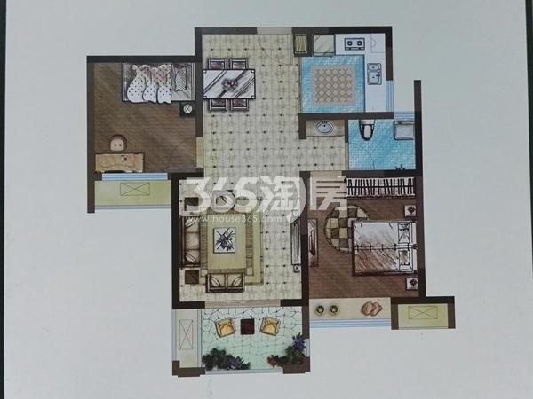 A1两室两厅一卫户型