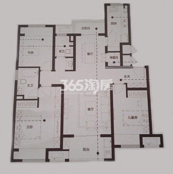 Y1-1三室两厅两卫户型