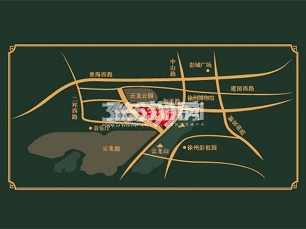 东方润园交通图