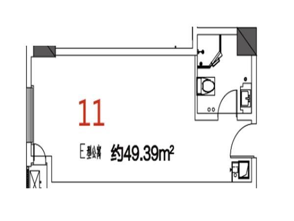 11户型49.39平米