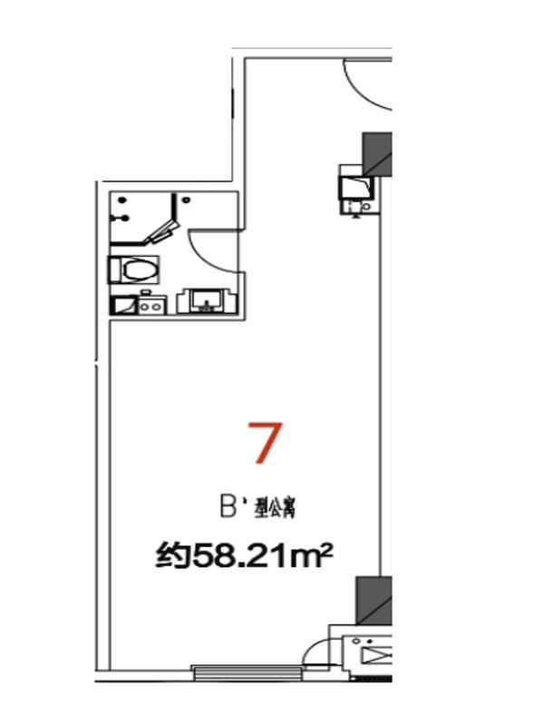 07户型58.21平米