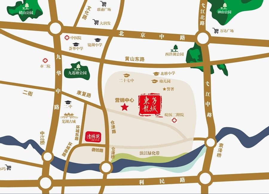 东方龙城清荷苑交通图