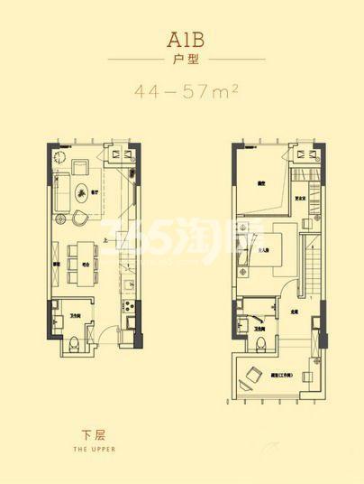 深港亚太中心44-57平A1B户型