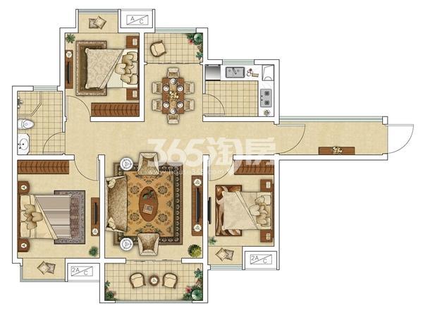 13#E4三室两厅户型图