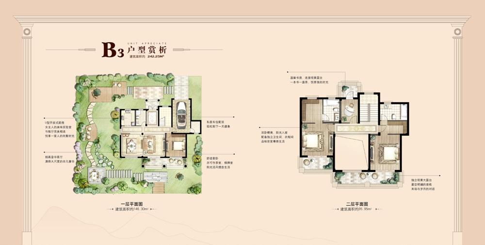 锦隆云山墅242㎡B3户型图