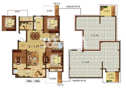 红星美凯龙·翰林华府C-1楼2楼+地下室