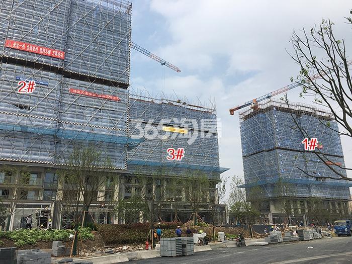 万科西雅图1-3号楼施工进程(2017.4)