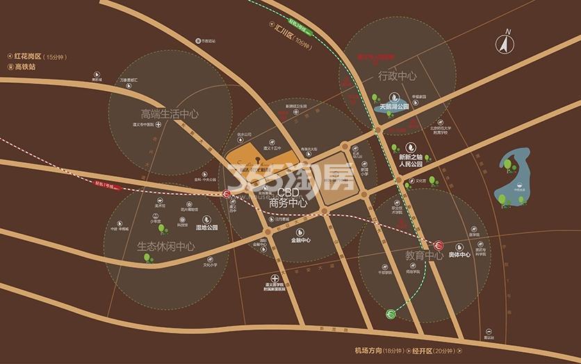 林达阳光鑫街交通图
