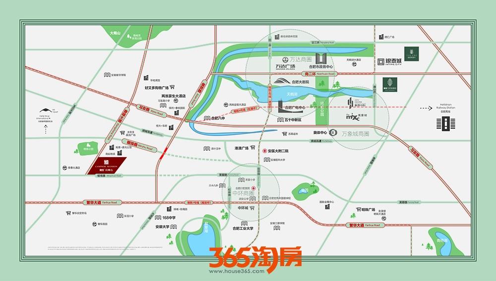 融创玖樟台交通区位图