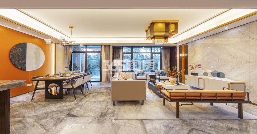新城香悦公馆P1户型图150方样板房——餐客厅