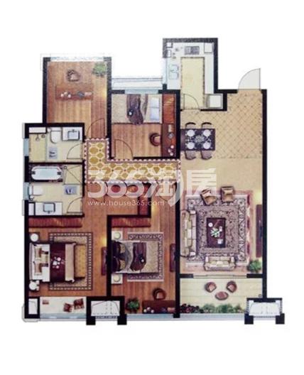 E户型 4室2厅2卫1厨