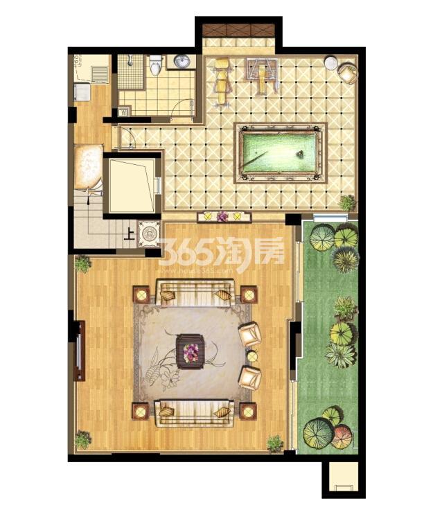 瑞安翠湖山西边04室D4户型地下层