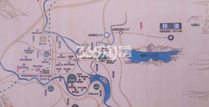 首开仙海龙湾交通图