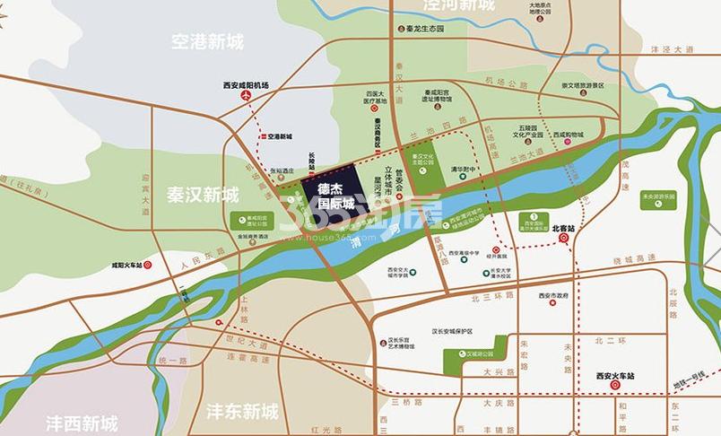 德杰国际城区位图