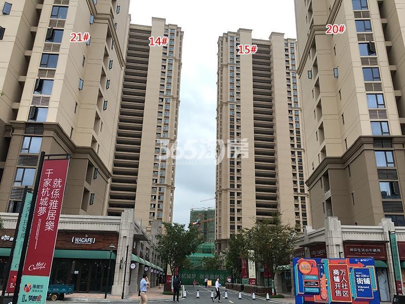 雅居乐国际花园14、15、19、20号楼实景图(2017.9)
