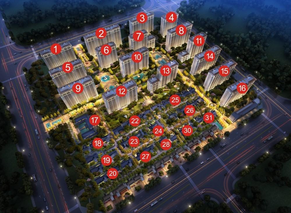 蓝光长岛国际社区鸟瞰图