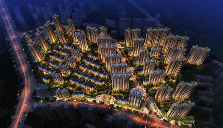 中国铁建万科翡翠国际鸟瞰图