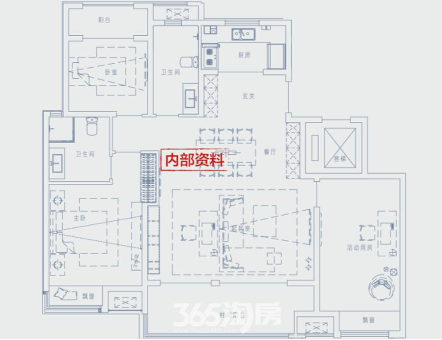 万科江东府高层约134平户型图