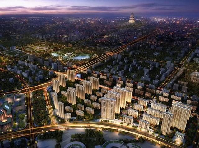 大华锦绣前城二期鸟瞰图