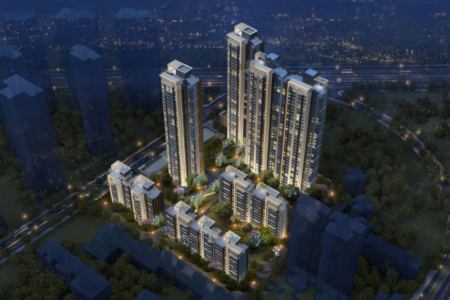 御锦城项目12期鸟瞰图