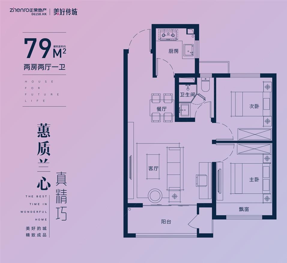 悦东府79㎡户型