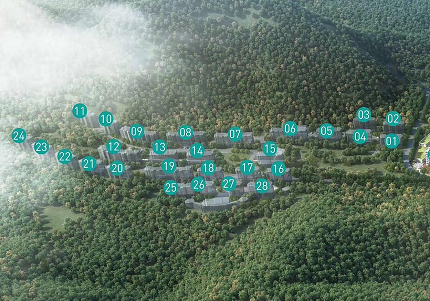 森与海之城融创森与海鸟瞰图2