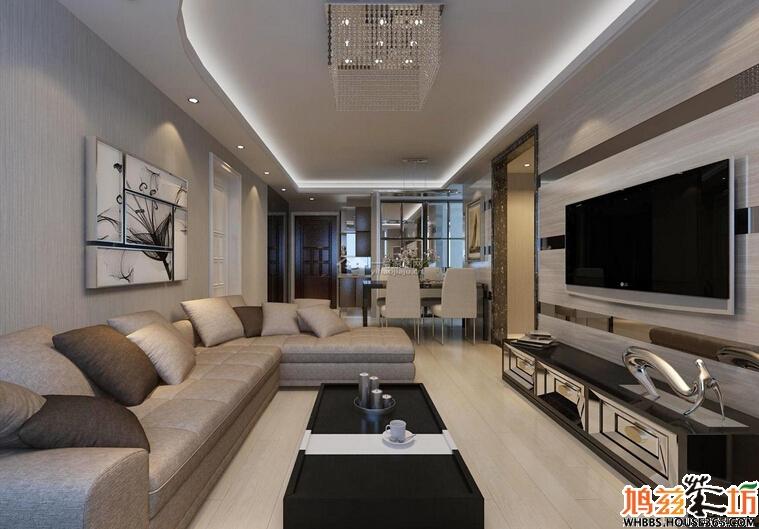 【柏庄丽城】最新122平米三室两厅现代简约装修效果